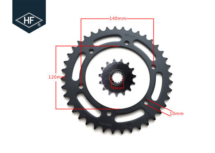 Honda 525 Chain And Sprocket Kit , 40T / 15T Motorbike Chain And Sprocket Kits